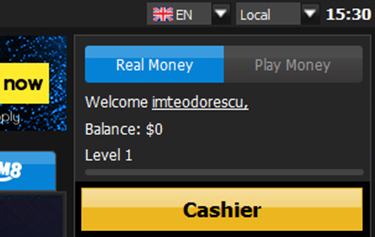 real money or practice play at 888poker
